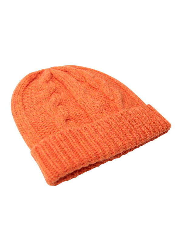 Bernard Weatherill Cashmere Cable Knit Beanie Flaming Savile Row Gentlemens Outfitters