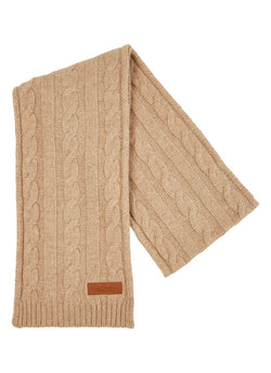 Bernard Weatherill Cashmere Cable Knit Scarf Crofter Savile Row Gentlemens Outfitters
