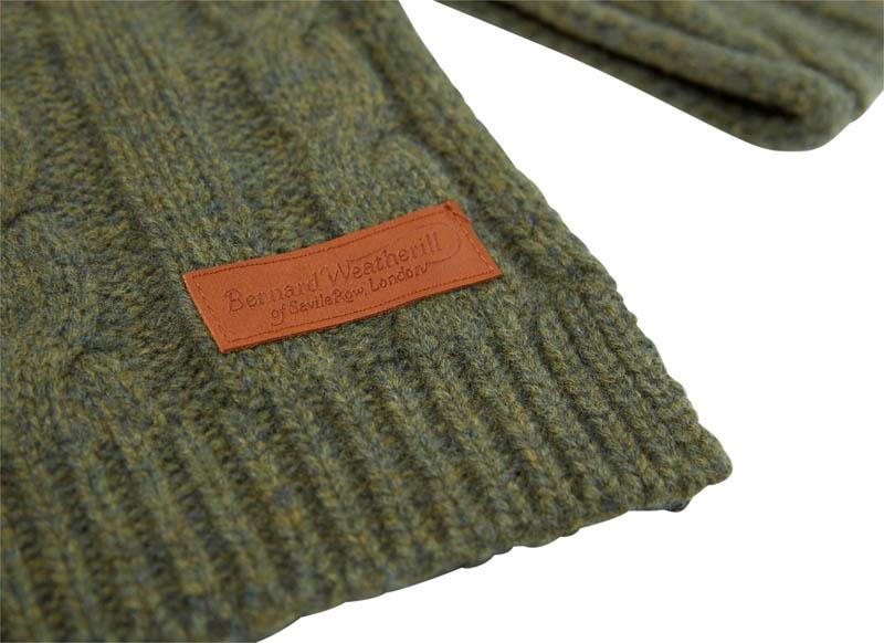 Bernard Weatherill Cashmere Cable Knit Scarf Thyme Savile Row Gentlemens Outfitters