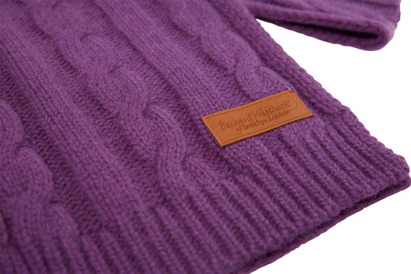 Bernard Weatherill Cashmere Cable Knit Scarf Velvet Savile Row Gentlemens Outfitters