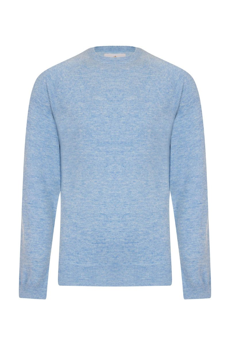 Bernard Weatherill Cashmere Crew Neck Harebell Savile Row Gentlemens Outfitters