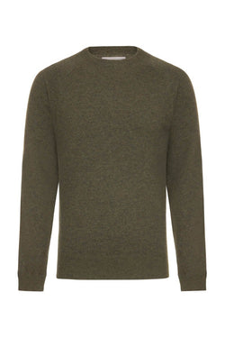 Bernard Weatherill Cashmere Crew Neck Thyme Savile Row Gentlemens Outfitters