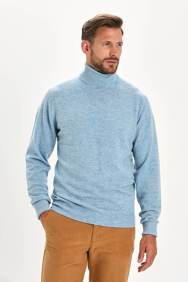 Bernard Weatherill Cashmere Roll Neck Harebell Savile Row Gentlemens Outfitters
