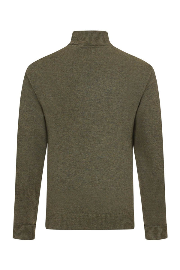 Bernard Weatherill Cashmere Roll Neck Thyme Savile Row Gentlemens Outfitters