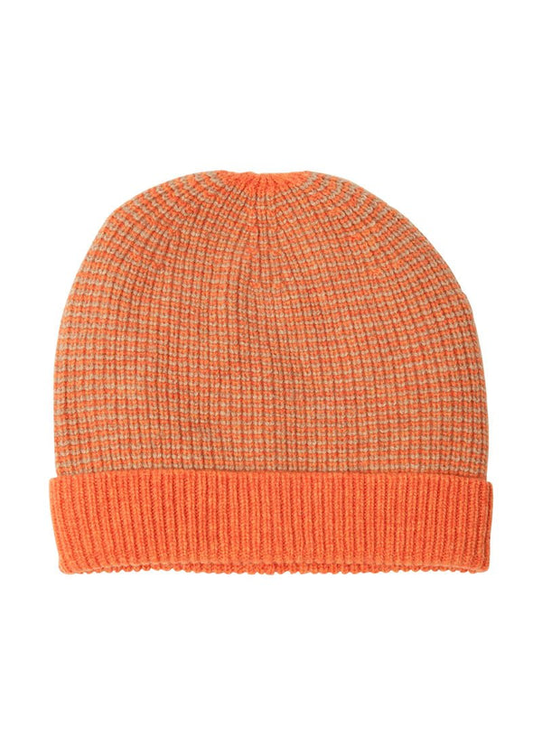 Bernard Weatherill Cashmere Stripe Beanie Flaming Crofter Savile Row Gentlemens Outfitters