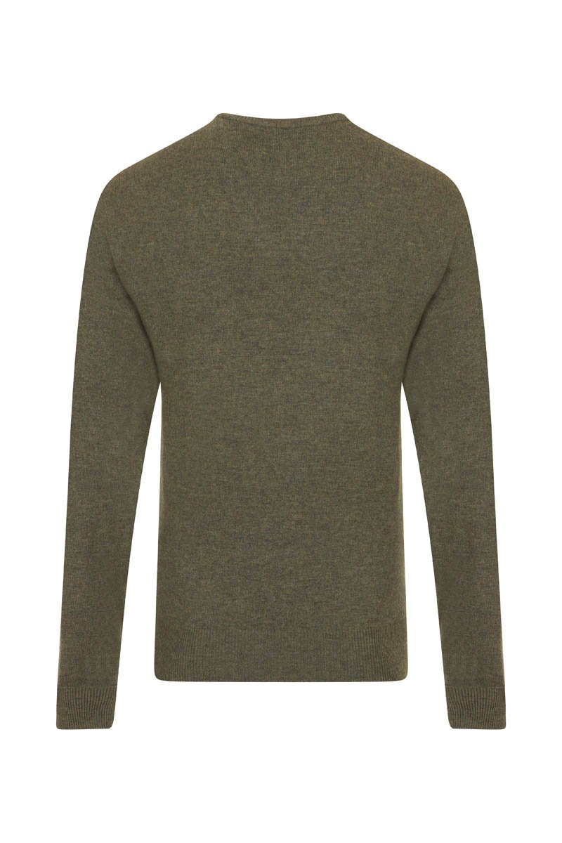 Bernard Weatherill Cashmere V-Neck Thyme Savile Row Gentlemens Outfitters