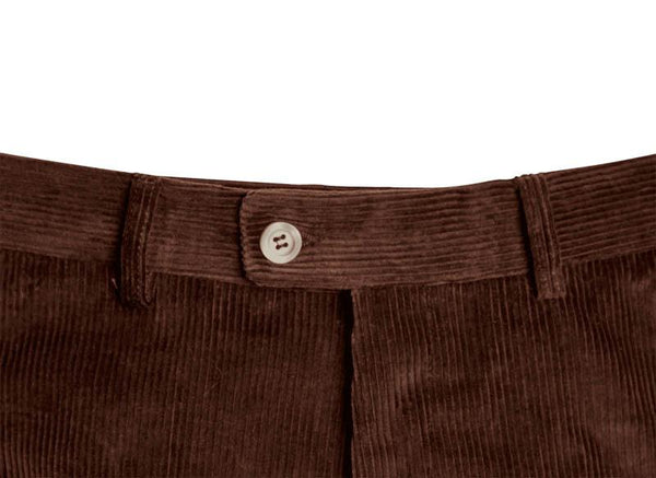 Bernard Weatherill Corduroy Trousers Dark Brown Savile Row Gentlemens Outfitters