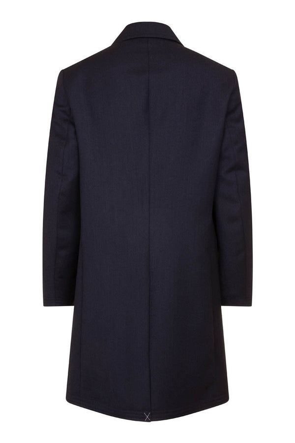 Bernard Weatherill Covert Coat Navy Savile Row Gentlemens Outfitters