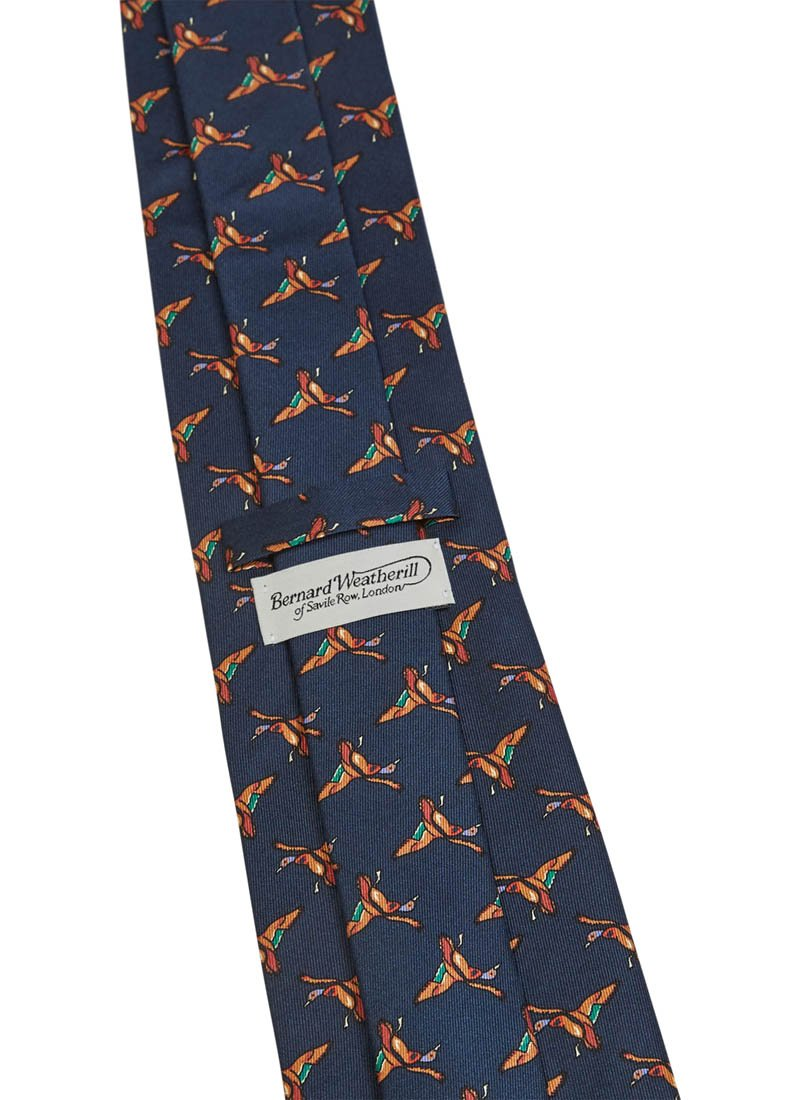 Bernard Weatherill Flying Ducks Tie Navy Savile Row Gentlemens Outfitters