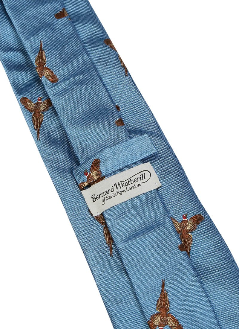 Bernard Weatherill Flying Pheasant Tie Blue Savile Row Gentlemens Outfitters
