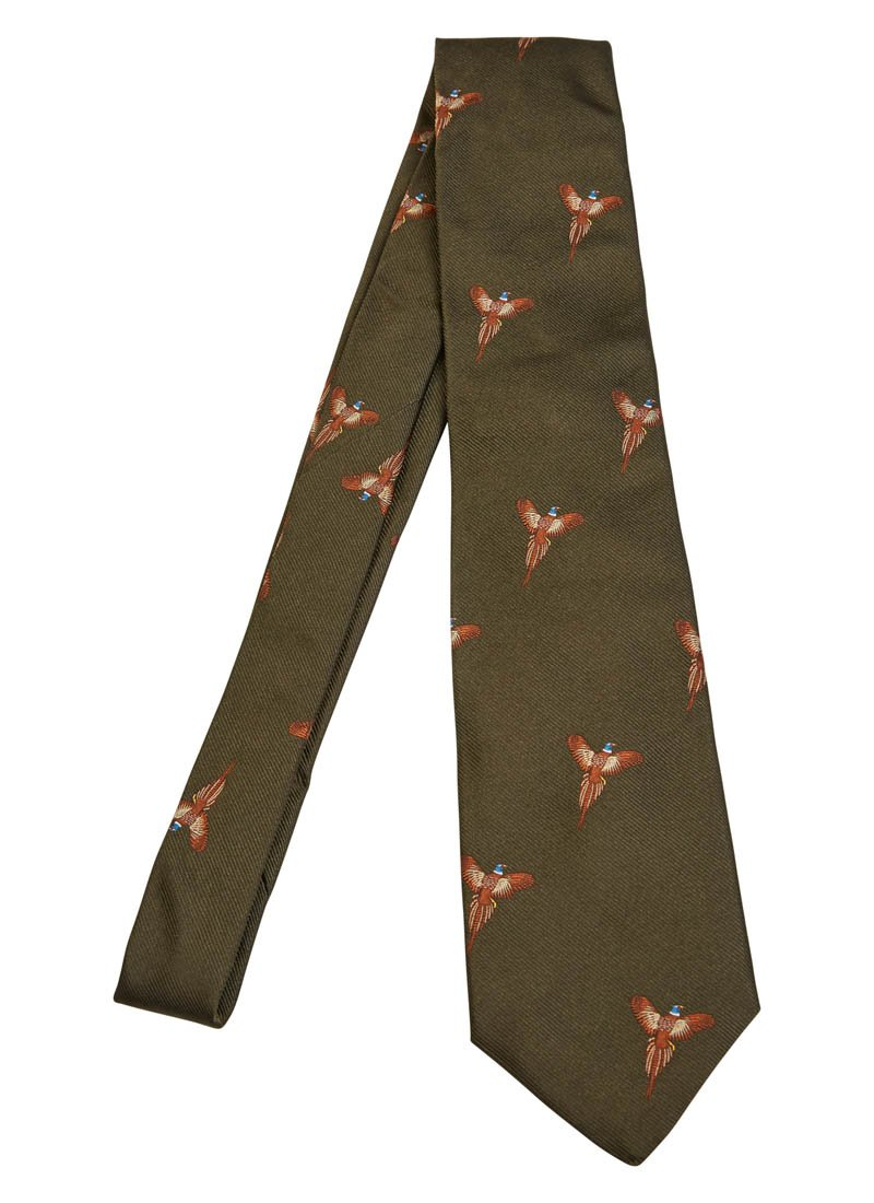 Bernard Weatherill Flying Pheasant Tie Green Savile Row Gentlemens Outfitters