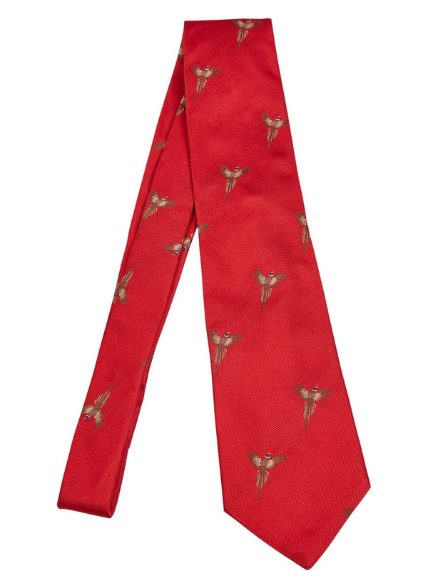 Bernard Weatherill Flying Pheasant Tie Red Savile Row Gentlemens Outfitters