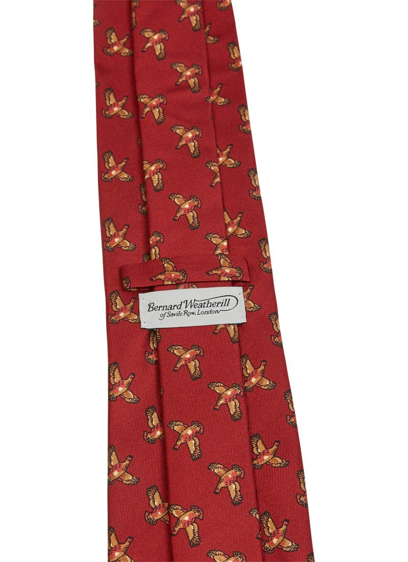 Bernard Weatherill Grouse Tie Red Savile Row Gentlemens Outfitters