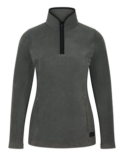 Bernard Weatherill Ladies 1/4 Zip Summer Fleece Charcoal Savile Row Gentlemens Outfitters