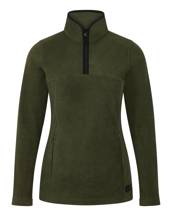 Bernard Weatherill Ladies 1/4 Zip Summer Fleece Forest Savile Row Gentlemens Outfitters
