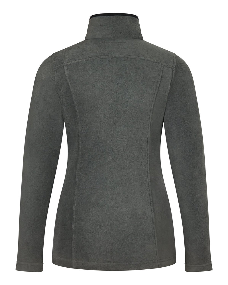 Bernard Weatherill Ladies Full Zip Summer Fleece Charcoal Savile Row Gentlemens Outfitters