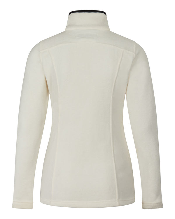 Bernard Weatherill Ladies Full Zip Summer Fleece Cream Savile Row Gentlemens Outfitters