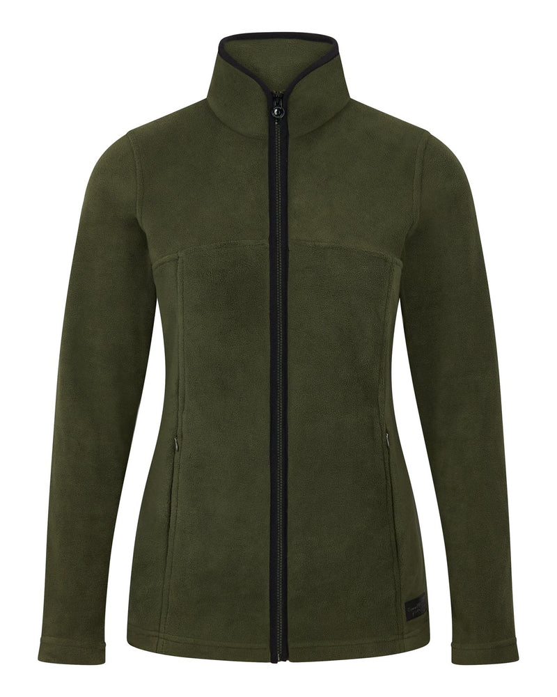 Bernard Weatherill Ladies Full Zip Summer Fleece Forest Savile Row Gentlemens Outfitters
