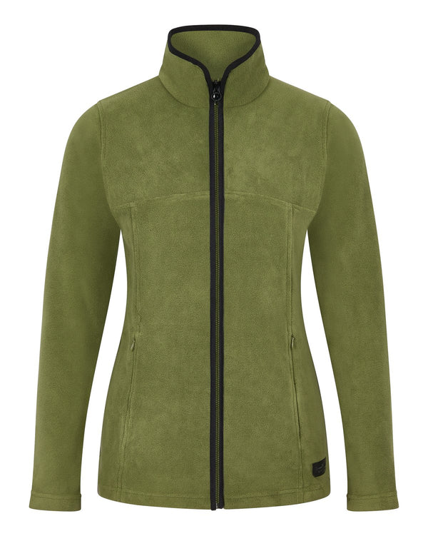 Bernard Weatherill Ladies Full Zip Summer Fleece Loden Savile Row Gentlemens Outfitters