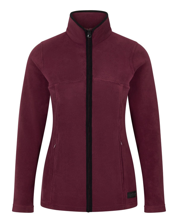 Bernard Weatherill Ladies Full Zip Summer Fleece Wine Savile Row Gentlemens Outfitters