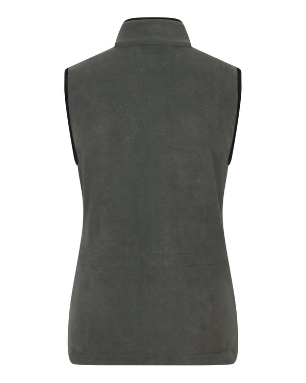 Bernard Weatherill Ladies Gilet Summer Fleece Charcoal Savile Row Gentlemens Outfitters