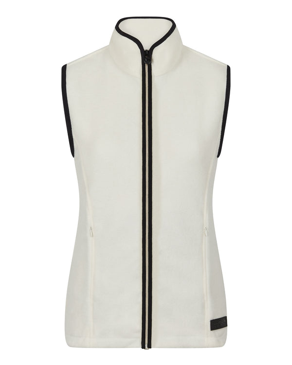 Bernard Weatherill Ladies Gilet Summer Fleece Cream Savile Row Gentlemens Outfitters