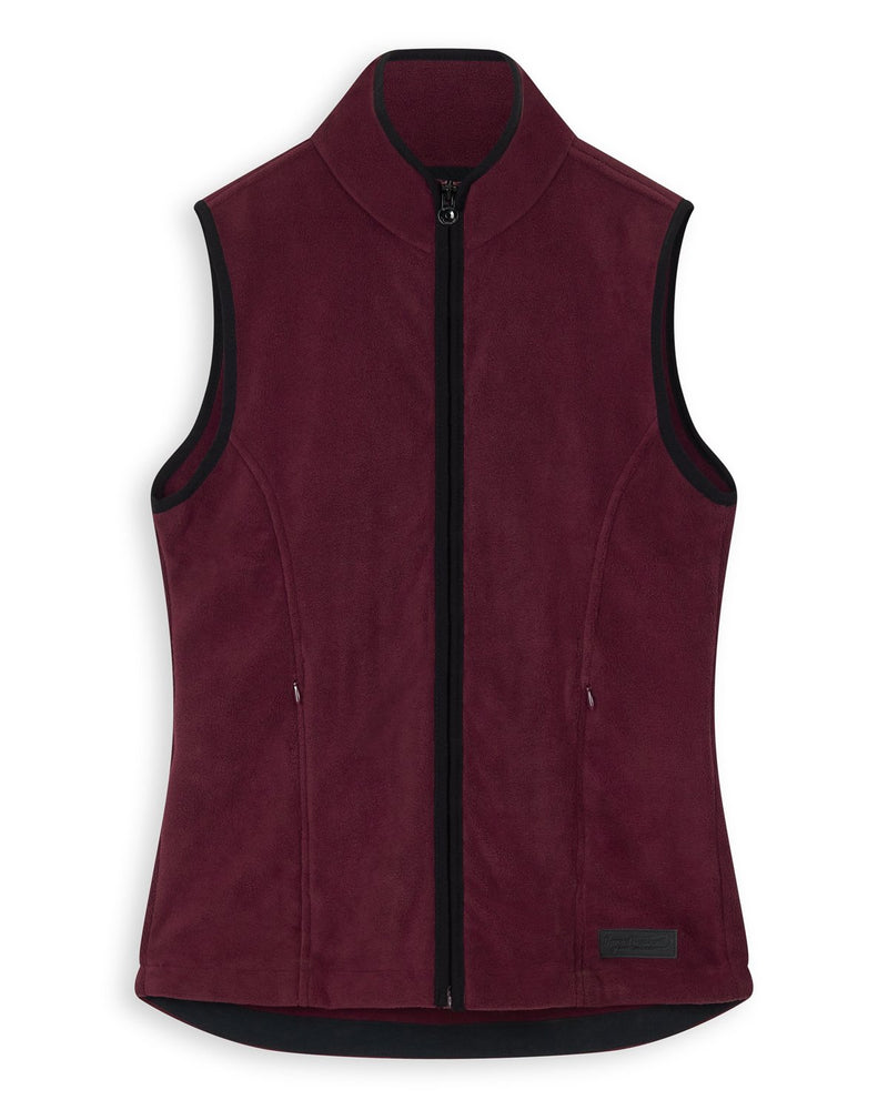 Bernard Weatherill Ladies Gilet Summer Fleece Wine Savile Row Gentlemens Outfitters