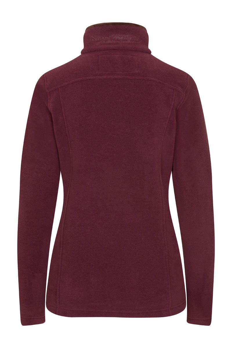 Bernard Weatherill Ladies Polartec 1/4 Zip Neck Fleece Aubergine Savile Row Gentlemens Outfitters