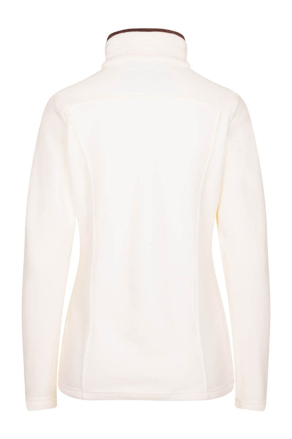 Bernard Weatherill Ladies Polartec 1/4 Zip Neck Fleece Cream Savile Row Gentlemens Outfitters