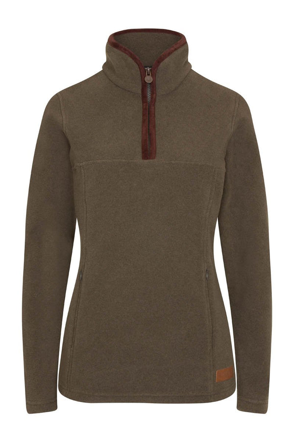 Bernard Weatherill Ladies Polartec 1/4 Zip Neck Fleece Forest Savile Row Gentlemens Outfitters