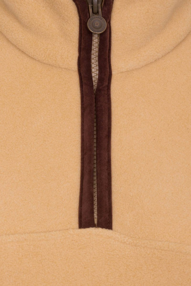 Bernard Weatherill Ladies Polartec 1/4 Zip Neck Fleece Tan Savile Row Gentlemens Outfitters