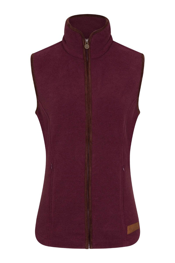 Bernard Weatherill Ladies Polartec Fleece Gilet Aubergine Savile Row Gentlemens Outfitters