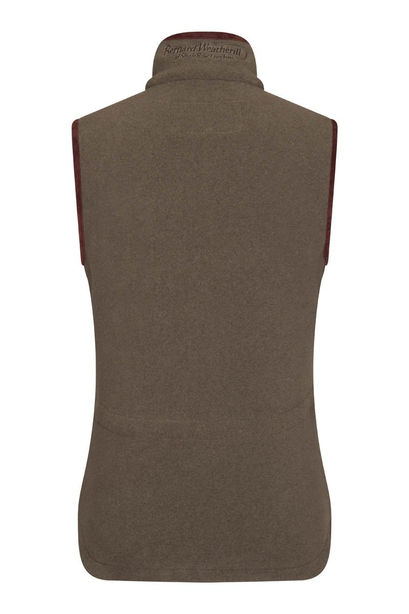Bernard Weatherill Ladies Polartec Fleece Gilet Forest Savile Row Gentlemens Outfitters