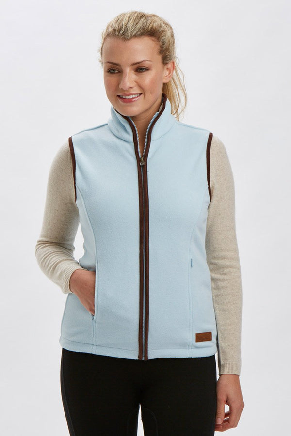 Bernard Weatherill Ladies Polartec Fleece Gilet Sky Savile Row Gentlemens Outfitters