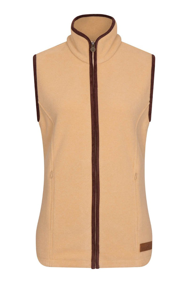 Bernard Weatherill Ladies Polartec Fleece Gilet Tan Savile Row Gentlemens Outfitters