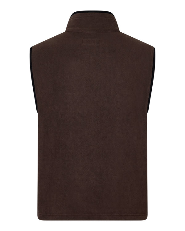 Bernard Weatherill Mens Gilet Summer Fleece Brown Savile Row Gentlemens Outfitters