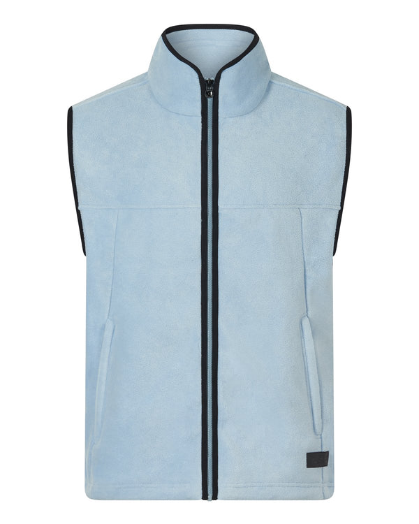Bernard Weatherill Mens Gilet Summer Fleece Sky Savile Row Gentlemens Outfitters