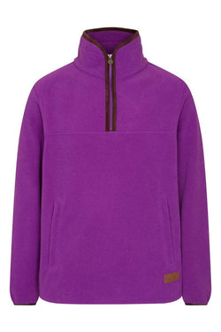 Bernard Weatherill Polartec 1/4 Zip Neck Fleece Purple Savile Row Gentlemens Outfitters