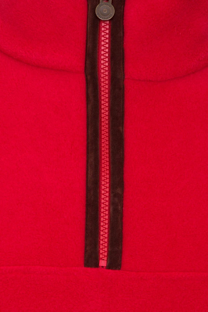 Bernard Weatherill Polartec 1/4 Zip Neck Fleece Red Savile Row Gentlemens Outfitters