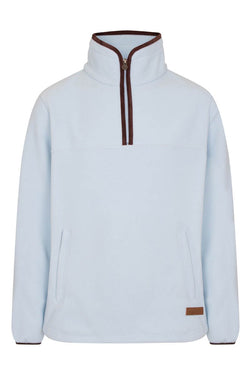 Bernard Weatherill Polartec 1/4 Zip Neck Fleece Sky Savile Row Gentlemens Outfitters