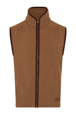 Bernard Weatherill Polartec Fleece Gilet Coffee Savile Row Gentlemens Outfitters