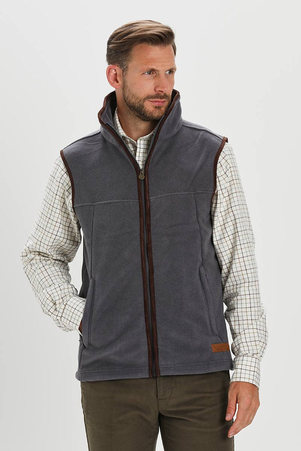 Bernard Weatherill Polartec Fleece Gilet Gunmetal Savile Row Gentlemens Outfitters