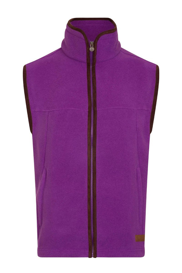 Bernard Weatherill Polartec Fleece Gilet Purple Savile Row Gentlemens Outfitters