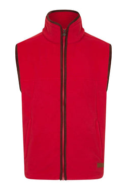 Bernard Weatherill Polartec Fleece Gilet Red Savile Row Gentlemens Outfitters