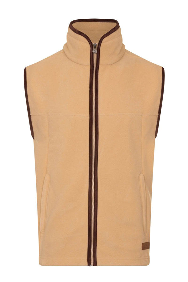 Bernard Weatherill Polartec Fleece Gilet Tan Savile Row Gentlemens Outfitters