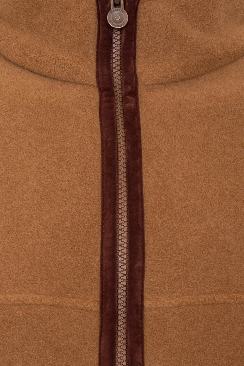 Bernard Weatherill Polartec Zip Through Fleece Coffee Savile Row Gentlemens Outfitters