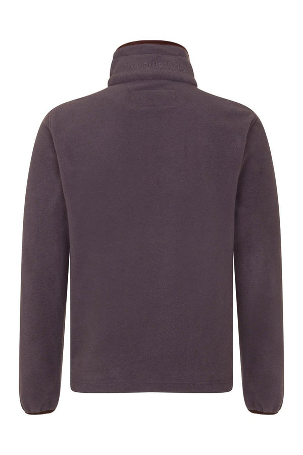 Bernard Weatherill Polartec Zip Through Fleece Gunmetal Savile Row Gentlemens Outfitters