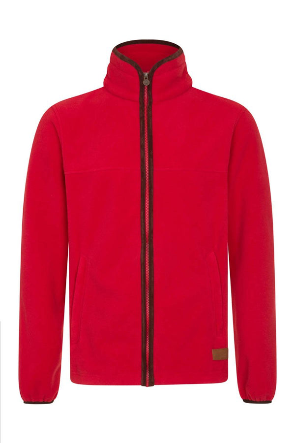 Bernard Weatherill Polartec Zip Through Fleece Red Savile Row Gentlemens Outfitters