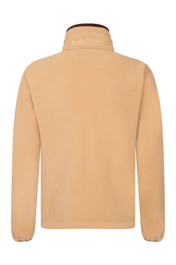 Bernard Weatherill Polartec Zip Through Fleece Tan Savile Row Gentlemens Outfitters