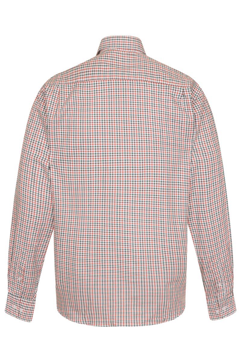 Bernard Weatherill Regular Collar Pocket Check Shirt Red Green Savile Row Gentlemens Outfitters